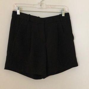 J. Crew Black Drapey Crepe Shorts Size 0